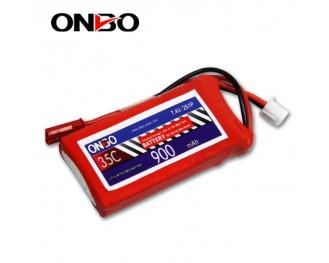 35C 2S 900mAh lipo,900mah small lipo,ONBO 2S 35C lipo,3.7V lipo battery