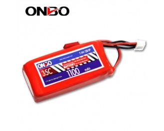 35C 2S 1100mAh lipo,1100mah lipo,ONBO 2S 35C lipo,3.7V lipo battery