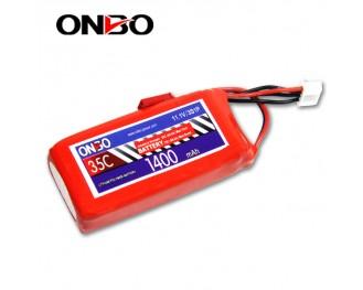 35C 3S 1400mAh lipo,1400mah lipo,ONBO 3S 35C lipo,3.7V lipo battery