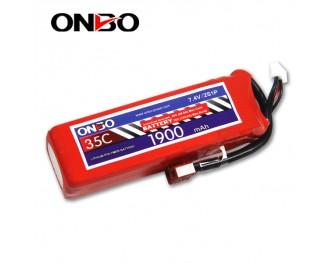 35C 2S 1900mAh lipo,1900mah lipo,ONBO 2S 35C lipo,3.7V lipo battery