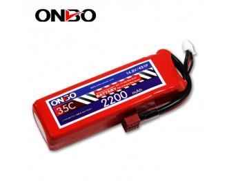 35C 4S 2200mAh lipo,2200mah lipo,ONBO 4S 35C lipo,3.7V lipo battery