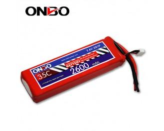 35C 2S 2600mAh lipo,2600mah lipo,ONBO 2S 35C lipo,3.7V lipo battery