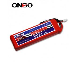 35C 4S 2600mAh lipo,2600mah lipo,ONBO 4S 35C lipo,3.7V lipo battery