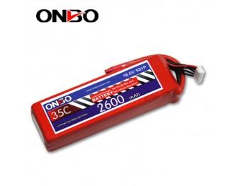 35C 5S 2600mAh lipo,2600mah lipo,ONBO 5S 35C lipo,3.7V lipo battery