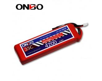 35C 3S 4200mAh lipo,4200mah lipo,ONBO 3S 35C lipo,3.7V lipo battery