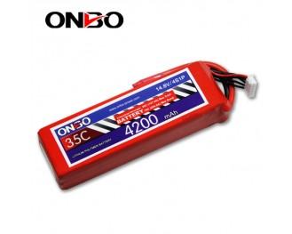 35C 4S 4200mAh lipo,4200mah lipo,ONBO 4S 35C lipo,3.7V lipo battery
