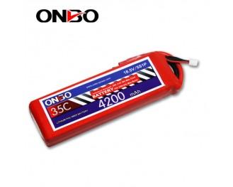 35C 5S 4200mAh lipo,4200mah lipo,ONBO 5S 35C lipo,3.7V lipo battery