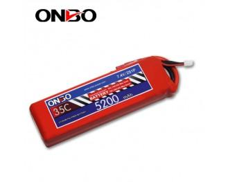 35C 2S 5200mAh lipo,5200mah lipo,ONBO 2S 35C lipo,3.7V lipo battery