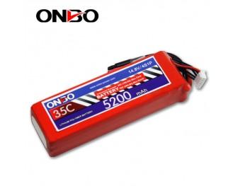 35C 4S 5200mAh lipo,5200mah lipo,ONBO 4S 35C lipo,3.7V lipo battery