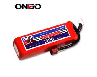 35C 4S 1900mAh lipo,1900mah lipo,ONBO 4S 35C lipo,3.7V lipo battery