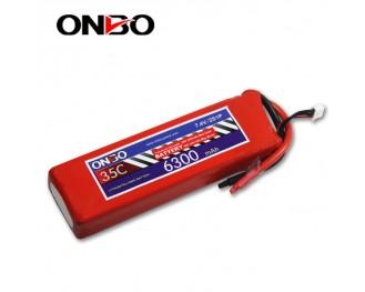 35C 2S 6300mAh lipo,6300mah lipo,ONBO 2S 35C lipo,3.7V lipo battery