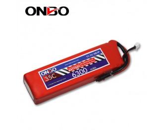 35C 3S 6300mAh lipo,6300mah lipo,ONBO 3S 35C lipo,3.7V lipo battery