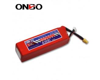 35C 4S 6300mAh lipo,6300mah lipo,ONBO 4S 35C lipo,3.7V lipo battery