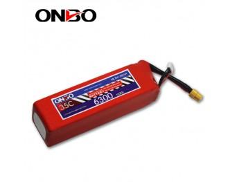 35C 5S 6300mAh lipo,6300mah lipo,ONBO 5S 35C lipo,3.7V lipo battery