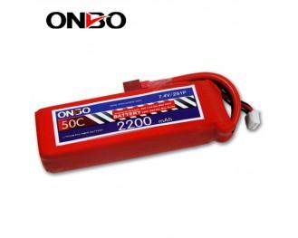 50C 2S 2200mAh lipo,2200mah lipo,ONBO 2S 50C lipo,3.7V lipo battery