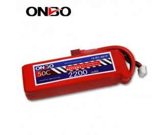 50C 4S 2200mAh lipo,2200mah lipo,ONBO 4S 50C lipo,3.7V lipo battery