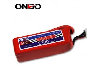 50C 6S 2200mAh lipo,2200mah lipo,ONBO 6S 50C lipo,3.7V lipo battery