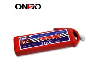 50C 3S 2600mAh lipo,2600mah lipo,ONBO 3S 50C lipo,3.7V lipo battery