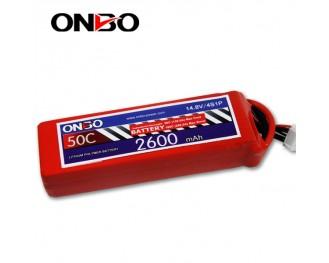 50C 4S 2600mAh lipo,2600mah lipo,ONBO 4S 50C lipo,3.7V lipo battery