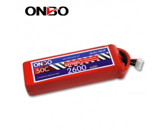 50C 5S 2600mAh lipo,2600mah lipo,ONBO 5S 50C lipo,3.7V lipo battery