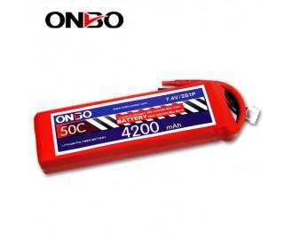 50C 2S 4200mAh lipo,4200mah lipo,ONBO 2S 50C lipo,3.7V lipo battery