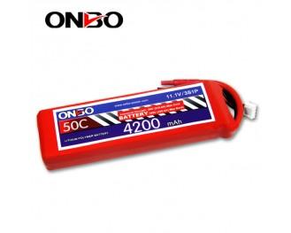 50C 3S 4200mAh lipo,4200mah lipo,ONBO 3S 50C lipo,3.7V lipo battery