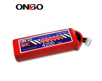 50C 4S 4200mAh lipo,4200mah lipo,ONBO 4S 50C lipo,3.7V lipo battery