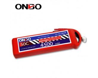 50C 3S 4500mAh lipo,4500mah lipo,ONBO 3S 50C lipo,3.7V lipo battery