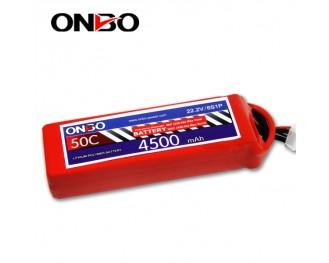 50C 6S 4500mAh lipo,4500mah lipo,ONBO 6S 50C lipo,3.7V lipo battery