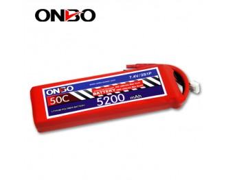 50C 2S 5200mAh lipo,5200mah lipo,ONBO 2S 50C lipo,3.7V lipo battery