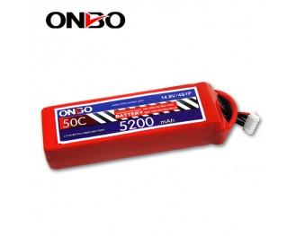 50C 4S 5200mAh lipo,5200mah lipo,ONBO 4S 50C lipo,3.7V lipo battery