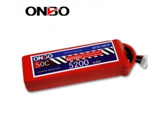 50C 6S 5200mAh lipo,5200mah lipo,ONBO 6S 50C lipo,3.7V lipo battery