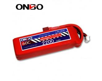 60C 2S 2200mAh lipo,2200mah lipo,ONBO 2S 60C lipo,3.7V lipo battery