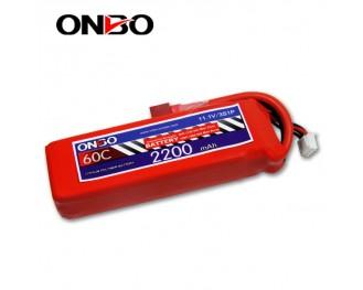 60C 3S 2200mAh lipo,2200mah lipo,ONBO 3S 60C lipo,3.7V lipo battery