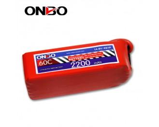 60C 4S 2200mAh lipo,2200mah lipo,ONBO 4S 60C lipo,3.7V lipo battery