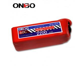 60C 5S 2200mAh lipo,2200mah lipo,ONBO 5S 60C lipo,3.7V lipo battery