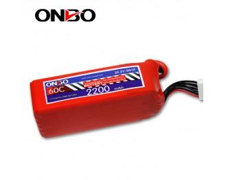 60C 6S 2200mAh lipo,2200mah lipo,ONBO 6S 60C lipo,3.7V lipo battery
