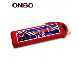 60C 3S 2600mAh lipo,2600mah lipo,ONBO 3S 60C lipo,3.7V lipo battery