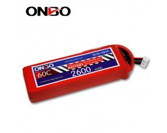 60C 5S 2600mAh lipo,2600mah lipo,ONBO 5S 60C lipo,3.7V lipo battery