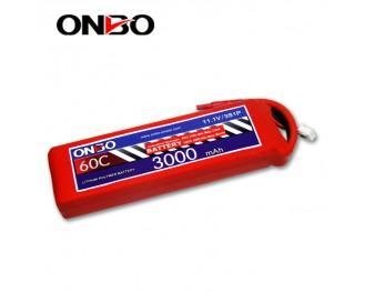 60C 3S 3000mAh lipo,3000mah lipo,ONBO 3S 60C lipo,3.7V lipo battery