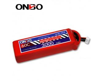 60C 4S 3000mAh lipo,3000mah lipo,ONBO 4S 60C lipo,3.7V lipo battery