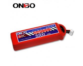 60C 5S 3000mAh lipo,3000mah lipo,ONBO 5S 60C lipo,3.7V lipo battery