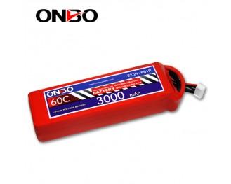 60C 6S 3000mAh lipo,3000mah lipo,ONBO 6S 60C lipo,3.7V lipo battery