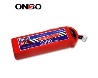 60C 3S 3300mAh lipo,3300mah lipo,ONBO 3S 60C lipo,3.7V lipo battery