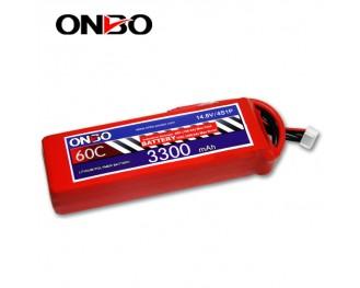 60C 4S 3300mAh lipo,3300mah lipo,ONBO 4S 60C lipo,3.7V lipo battery