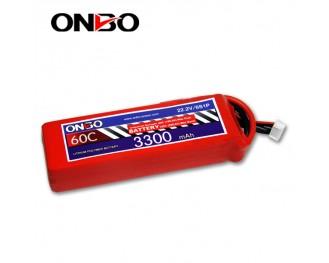 60C 6S 3300mAh lipo,3300mah lipo,ONBO 6S 60C lipo,3.7V lipo battery
