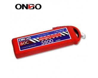 60C 2S 3800mAh lipo,3800mah lipo,ONBO 2S 60C lipo,3.7V lipo battery