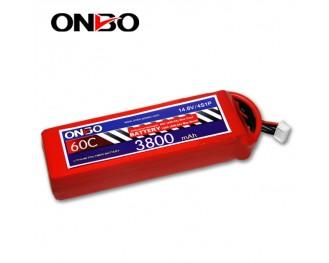 60C 4S 3800mAh lipo,3800mah lipo,ONBO 4S 60C lipo,3.7V lipo battery
