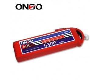 60C 3S 5300mAh lipo,5300mah lipo,ONBO 3S 60C lipo,3.7V lipo battery