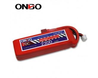 70C 2S 2300mAh lipo,2300mah small lipo,ONBO 2S 70C lipo,7.4V lipo battery